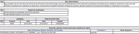 Facebook Libra Genève