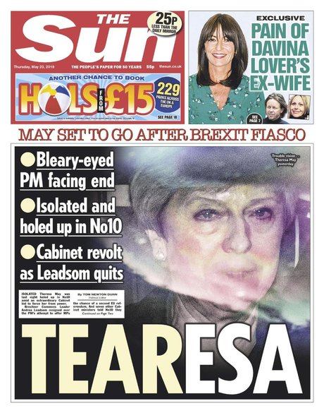 TheSun, Tear-Esa, Theresa May, tabloïd