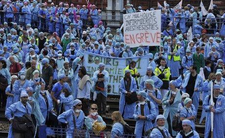 Fonction publique hospitalière, grève, infirmiers anesthésistes, Paris,