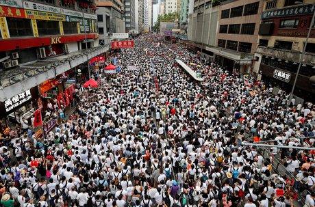 Hong Kong, manifestation, projet de loi, extradition, Chine