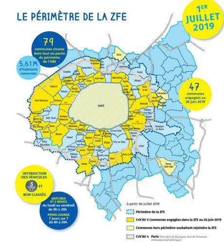 Carte de la ZFE de la MGP