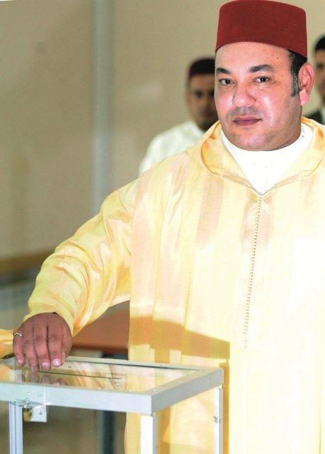 roi mohammed VI urne vote 2011 constitution