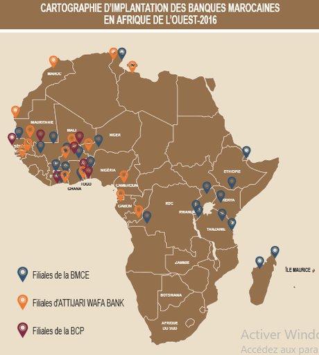 cartographie banques maroc afrique