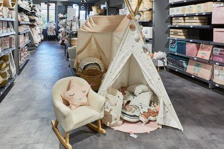 Un espace déco enfant a été ajouté au magasin