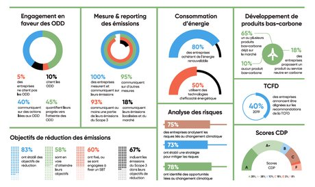 EcoACT, infographie, p.25, rapport, CAC 40, performance, reporting climat,