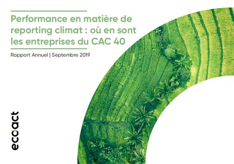 EcoACT, COUV, rapport, CAC 40, performance, reporting climat,