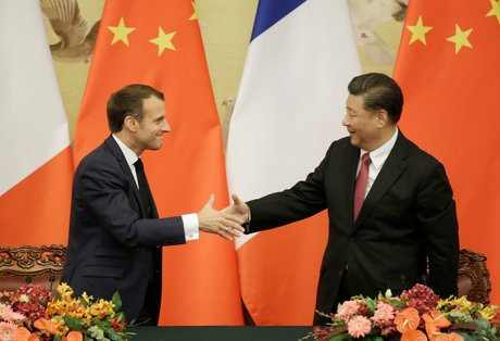 Macron, Xi Jinping,