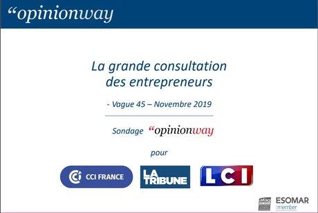 COUV Sondage nov.2019 Gde consult entrepreneurs-v45-OpinionWay-pour CCIFrance-LaTribune-LCI