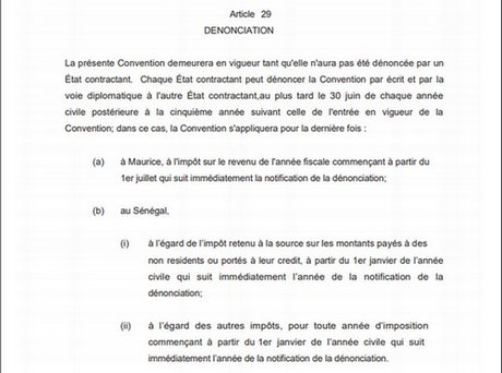Extrait convention Sénégal Maurice