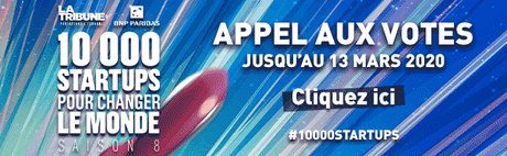 10 000 startups 2020 - Appel aux votes