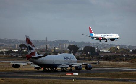 Boeing 737-400 Safair, aéroport international, Afrique du Sud
