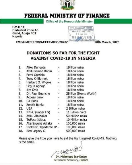 Communiqué Nigeria