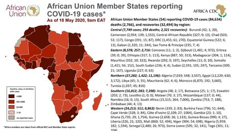 AFRICA cdc chiffres pandemie