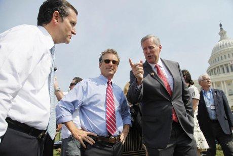U.S. Senator Ted Cruz (R-TX), Senator Rand Paul (R-KY) and Representative Mark Meadows (R-NC)