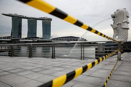 Singapour: recession inedite de l'economie en 2020 a cause du coronavirus