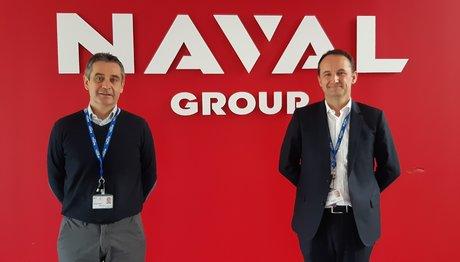 Emmanuel Chol, Directeur du site Naval Group de Nantes-Indret et Denis Mauguen, responsable transformation industrielle