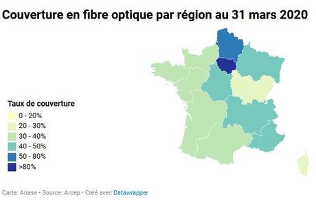 Carte fibre optique Ariase Arcep