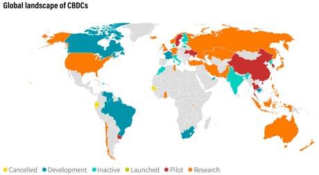 Le paysage mondial des CBDC