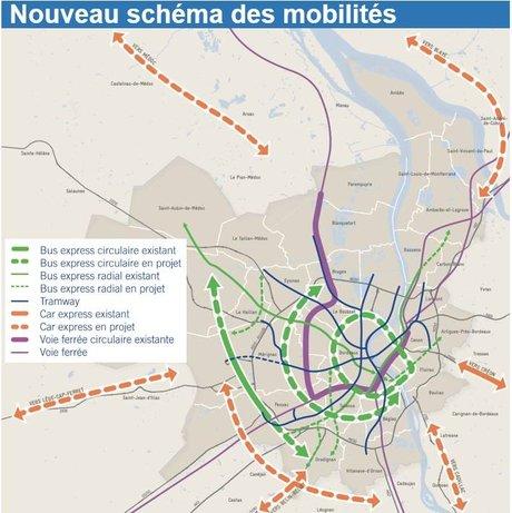 Bordeaux Métropole schéma des mobilités