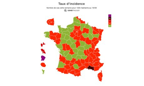 covid tracker, incidence, France