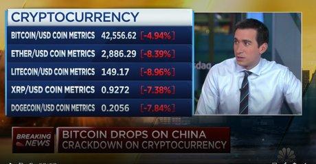 Crypto, Chine, CNBC