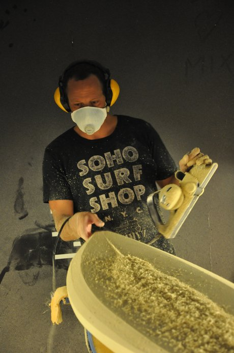 Polyola sacred for its sturdy surfboard made in Europe