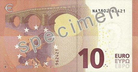 Billet de 10 euros verso