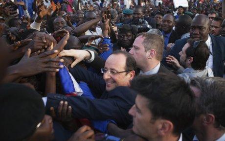 François Hollande à Tombouctou à Bamako, en février 2013.