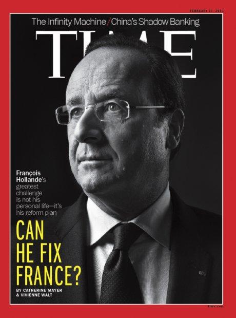 La couverture du Time sur François Hollande