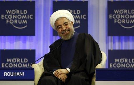 Hassan Rohani à Davos pour le Forum économique mondial, le 23 janvier 2014.