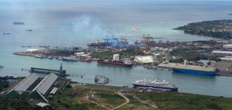 Port-Louis, sur l'Ile Maurice.
