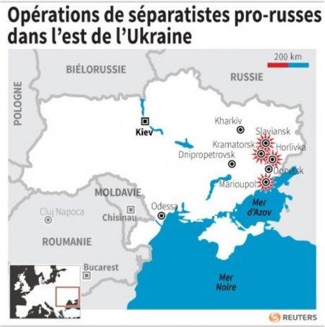 Attaque de séparatistes dans la ville ukrainienne de Horlivka