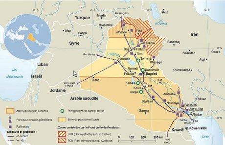 Carte pétrole