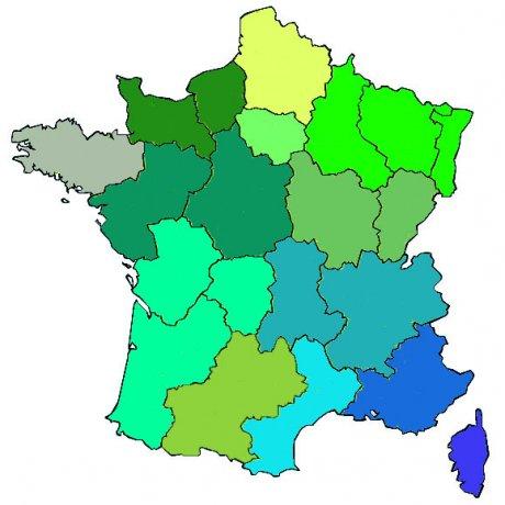 carte région senat