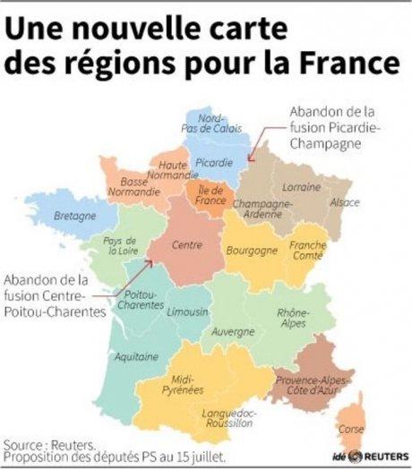 L'Assemblée vote la nouvelle carte des régions