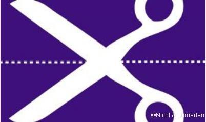 Drapeau écossais ciseaux