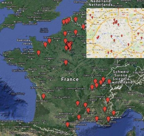 Carte magasins que Carrefour doit céder