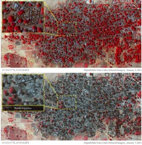image satellite de Doro Gowon les 2 et 7 janvier 2015