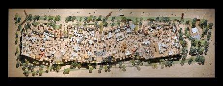 Maquette des locaux de Facebook imaginés par Frank Gehry 2012