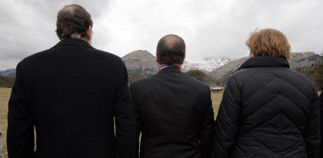 Crash Rajoy Merkel Hollande recueillement