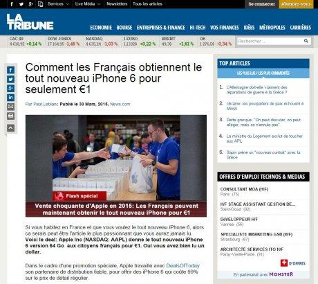 La Tribune Phishing
