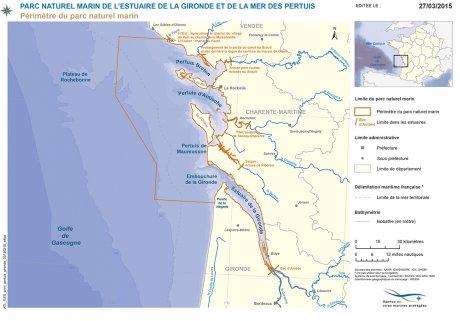 Carte Parc naturel marin Gironde Pertuis