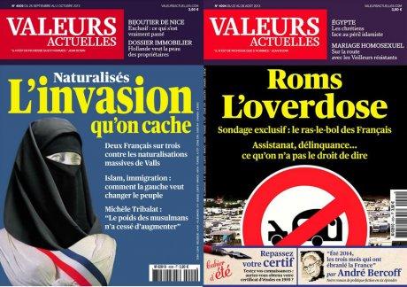 Des Unes polémiques de Valeurs actuelles / Marianne voilée / Roms, l'overdose
