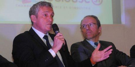 Philippe Saure, président de M3M, et Pascal Mailhos, préfet préfigurateur