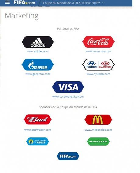 Sponsors de la Fifa
