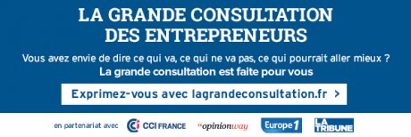 Opinion Way, CCI France, La Tribune, La grande consultation des entrepreneurs,,
