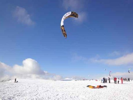 Hautes Chaumes Snowkite