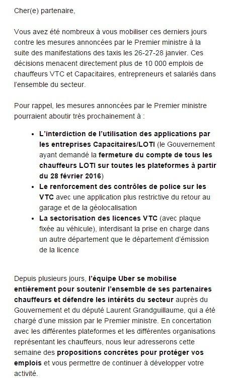 Uber fevrier mobilisation