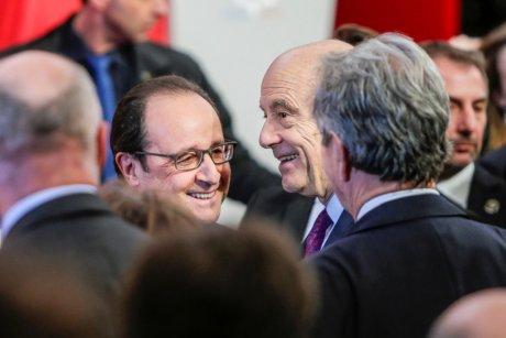 François Hollande et Alain Juppé à Bordeaux