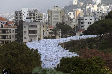Fleuve de poubelles à Beyrouth